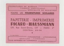 BUVARD PICARD-HAUSSMANN Papeterie - Imprimerie - Stationeries (flat Articles)