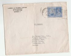 1946 INDIA COVER 3 1/2a Victory Stamps To GB - India (...-1947)