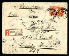 DR Einschreiben 1922 Rohrbach Nach Lexington Kentucky USA L997 - Deutschland