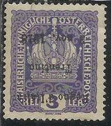 TRENTINO ALTO ADIGE 1918 VARIETA' VARIETY SOPRASTAMPATO DI AUSTRIA OVERPRINTED HELLER 3h MNH - 8. Occupazione 1a Guerra