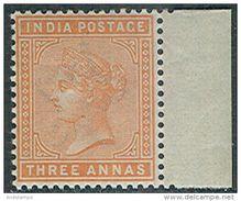 India 1882. Michel #36-b MNH/Luxe. QV (Ts04) - Royalties, Royals