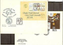 1972 .. 1980 Malta 5 FOGLIETTI (2/3/4/5/6) Su 5 FDC Grandi  5 Souv.sheets On Big FDC - Malta