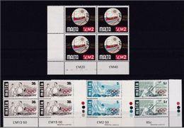 1976 Malta ANNATA  YEAR 6 Serie (519/36) In Quartina MNH** Bl.4 - Malta