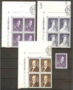 1960 Liechtenstein PRINCIPI  PRINCES 4 Serie Di 3v. (349A/C) In Quartina MNH** Bl.4 - Case Reali
