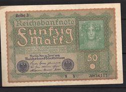 Allemagne: 50 Mark Type 1915-1919 - [ 2] 1871-1918 : Empire Allemand