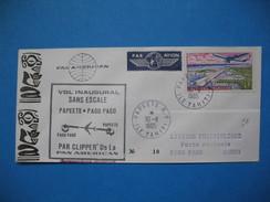 Polynésie Française Année 1965  N° 5 Sur Enveloppe Du 30/11/1965 Voyagé Par Avion De Papeete Pour Samoa - Polinesia Francese