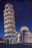 Pisa - Torre E L'abside Del Duomo Di Notte - Formato Grande Non Viaggiata – E 3 - Pisa