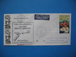 Polynésie Française Année 1964  N° 7 Sur Enveloppe Du 28/11/1965 Voyagé Par Avion De Papeete Pour Auckland Nelle Zelande - Polinesia Francese