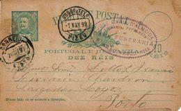 Portugal , 1899 , VIZEU Postmark , Stationery , Entier , D. Carlos , 10c , Casa Funeraria - Poststempel (Marcophilie)