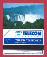 D3 100 U Waterfalls Cascade Chute Telecom Argentina - 1992 - URMET Neuve Mint - Argentina