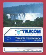 C3 100 U Waterfalls Cascade Chute CORTESIA Telecom Argentina - 3000 Ex - 1992 - URMET Neuve Mint - Argentine