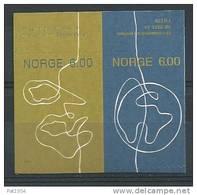 Norvège,  2004 Paire Issue De Carnet N°1431/1432  Neufs**, Slogan De La Poste - Norvegia