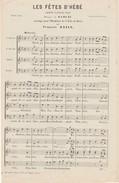 1952 - LES FETES D'HEBE- Choeur à 4 Voix - Musique De RAMEAU - Arrangé Pour L ' Orphéon De La Ville De Paris - P-R