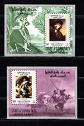 Yemen Aden: State Of Upper Yafa 1967 Mi Nr  Blok 7 + 8, Schilderijen Van Rembrandt En Frans Hals, Postfris - Yémen