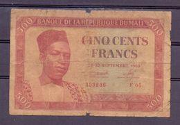 Mali  Ex AOF 500 Fr - Billets