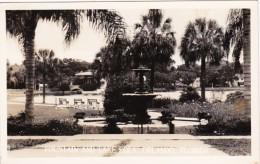 Florida Orlando Fountain and Lake Eola Real Photo