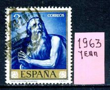 SPAGNA - Year 1963 - Usato - Used - Utilisè - Gebraucht. - 1961-70 Usati