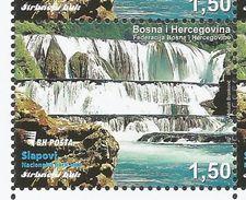 BH-2017-12 Waterfalls, BOSNA AND HERZEGOVINA, 1 X 1v, MNH - Bosnie-Herzegovine