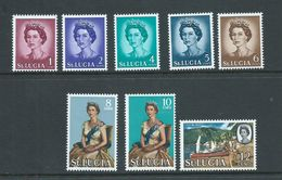St Lucia 1964 QEII Definitives Short Set Of 8 To 10c Fishing Boats MNH - St.Lucia (...-1978)