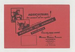 BUVARD AGRICULTEURS Un Animal Est Un Capital - Mutuelle Générale Française - Agriculture