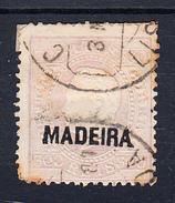 PORTUGAL-MADEIRA 1871. 300 REIS VIOLETA  AFINSA Nº25 USADO     Ceci 2 Nº 152 - 1910-... République