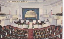 Florida Miami First Christian Church Interior 1942 Curteich