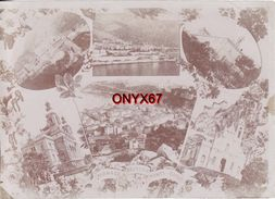PHOTO 18 X 13 Cms - 6 Vues Différentes De MONACO-MONTE-CARLO Cliché Avant 1900 - Photographs