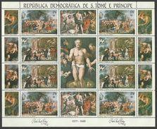 ST THOMAS AND PRINCE 1983 ART PAINTINGS RUBENS EASTER SHEETLET MNH - Sao Tome And Principe