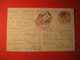Italia Cartolina Postale 10 Centesimi ANNULLO  SONA VERONA  CENSURA MILIATRE    156 - Non Classificati