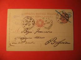 Italia Cartolina Postale 10 Centesimi ANNULLO  BRENO PRUDENZINI AVV    160 - Italia