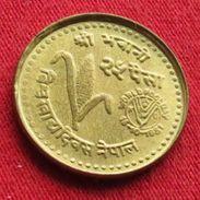Nepal 25 Paisa 1981 FAO F.a.o. - Nepal