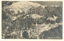 Wiesen - Mit Viadukt             Ca. 1930 - GR Grisons