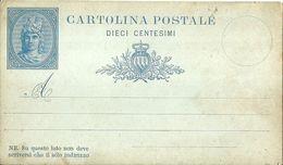 "103 - ""CARTOLINA POSTALE - SAN MARINO - 1/7/1882 - * LIBERTAS * - DIECI CENTESIMI - AZZURRO"" - Saint-Marin"