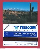 C5 100 U Desert CORTESIA Telecom Argentina - 3000 Ex - 1992 - URMET Neuve Mint - Argentine
