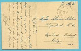 Kaart (Duisburg/Duitsland) Met Stempel Postes Militaires Belgique 12 Op 9/8/23 (treinstempel / Ambulant) - Postmark Collection