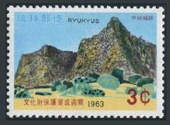 RyuKyu 115 Block/4,MNH.Michel 144. Site Of Nakagusuku Castle,1963. - Castles