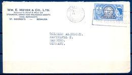 1956 , BERMUDA , SOBRE COMERCIAL CIRCULADO ENTRE ST. GEORGES Y HAMBURGO - Bermudas