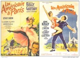"""2 Cartes Postales édition """"Dix Et Demi Quinze"""" - Un Américain à Paris - Film De Vincente Minnelli (cinéma Affiche) - Plakate Auf Karten"""