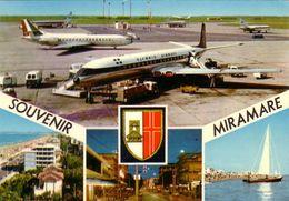 AEROPORTO-AEROPORT-AIRPORT-FLUGHAFEN-AERODROM-MIRAMARE-RIMINI-CARTOLINA VERA FOTOGRAFIA-VIAGG.IL 24-7-1969 - Aerodrome