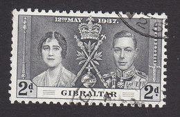 Gibraltar, Scott #105, Used, Coronation, Issued 1937 - Gibilterra
