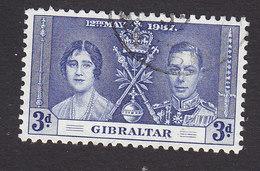 Gibraltar, Scott #106, Used, Coronation, Issued 1937 - Gibilterra