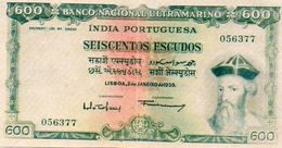 BILLET DE BANQUE PORTUGAL INDES PORTUGAISES  600 ESCUDOS   *Reproduction *Copie *Copy  AFONSO DE ALBURQUERQUE Année 1959 - Portugal