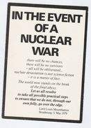 1980s? ANTI NUCLEAR WAR CAMPAIGN Postcard By QUAKER PEACE & SERVICE Gb Atomic Weapons Energy Cnd - Demonstrations