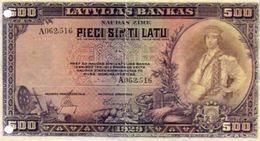 BILLET DE BANQUE  LETTONIE 500 LATS  *Reproduction *Copie *Copy - Lettonie