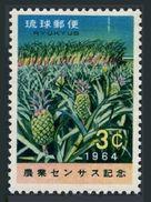 RyuKyu 119 Block/4,MNH.Michel 148. Agricultural Census 1964.Pineapples,Sugar - Fruits