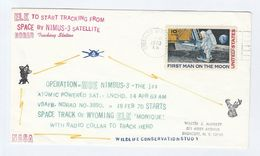 1970 NIMBUS Nuclear SATELLITE Tracking ELK From SPACE Via RADIO Atomic Energy NATURE CONSERVATION Event COVER Stamp Usa - North  America