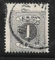 Sweden, Scott # J1 Used Postage Due, Short Bar On L, 1874, CV$40.00 - Postage Due