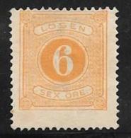 Sweden, Scott # J4 Unused No Gum Postage Due, 1874, CV$150.00, Thin - Postage Due