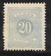 Sweden, Scott # J6 Unused Part Gum Postage Due, 1874, CV$80.00, Thin - Postage Due