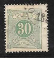Sweden, Scott # J9 Used Postage Due, 1874, CV$40.00 - Postage Due